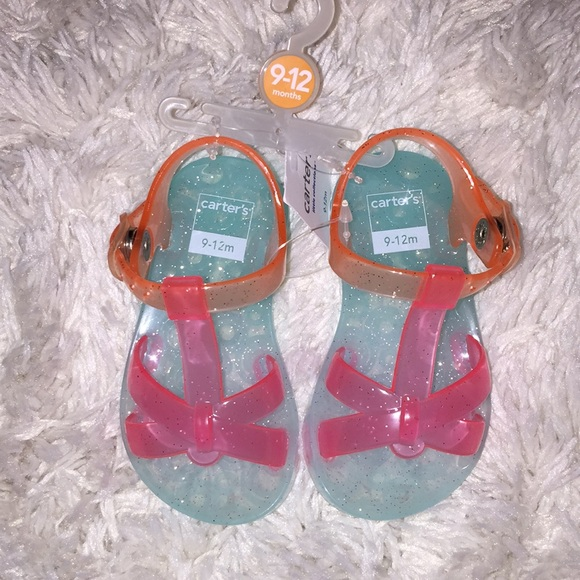 7a2a2023424a NEW Carter s Rainbow Jellies Sandals Size 9-12 Mon